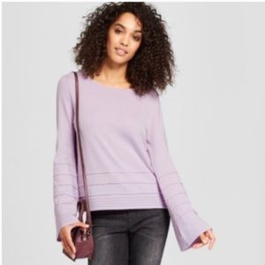 a new day Sweaters - 3/$25🌻 lilac purple bell sleeve sweater